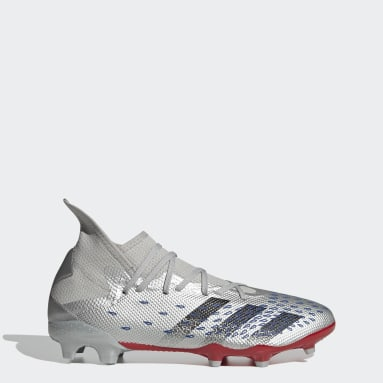 Men Football Silver Predator Freak.3 Firm Ground Boots