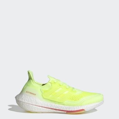 ผู้หญิง วิ่ง สีเหลือง รองเท้า Ultraboost 21
