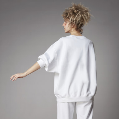 Sudadera Adicolor Oversized Blanco Mujer Originals