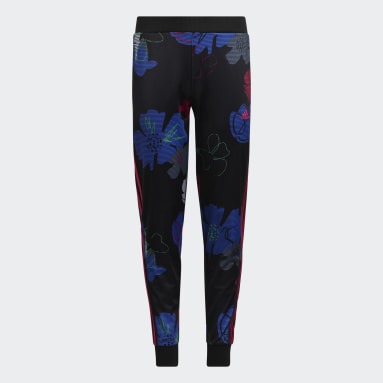 Youth Training Black Allover Print Tricot Joggers