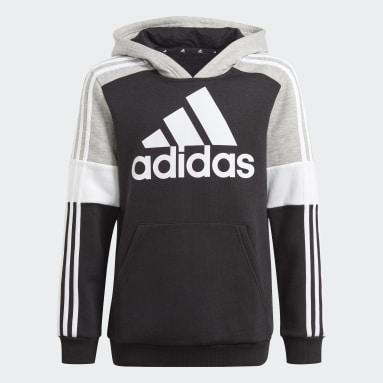 Kids Sportswear Black adidas Essentials Colorblock Hoodie (Gender Neutral)
