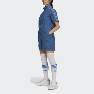 Women Originals Blue Adicolor Denim Jumpsuit