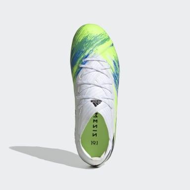 Calzado de fútbol Nemeziz 19.1 césped natural seco Blanco Niño Fútbol