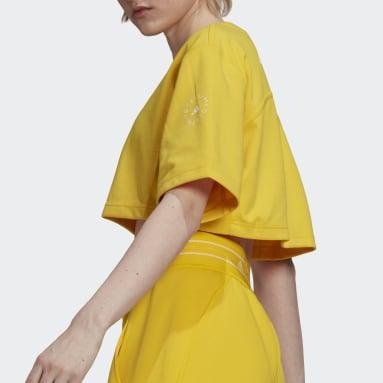 T-shirt adidas by Stella McCartney Future Playground Cropped Jaune Femmes adidas by Stella McCartney