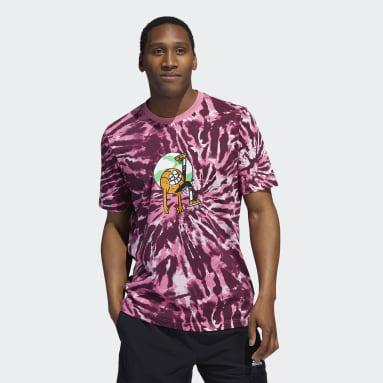 Men's Basketball Pink Lil Stripe Tie-Dye Graphic Tee