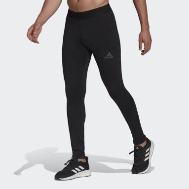 Muži Cvičení A Trénink černá Legíny COLD.RDY Techfit Long