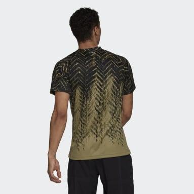 Camiseta Tennis Primeblue Freelift Printed Verde Hombre Tenis