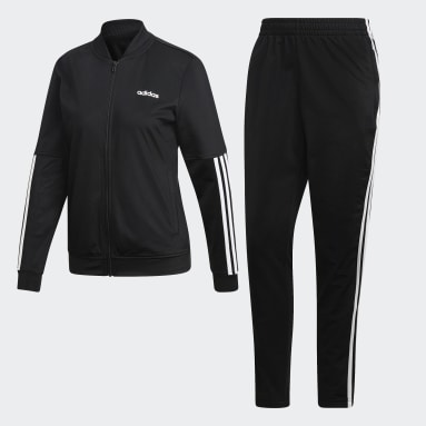 Women Sportswear Black Back 2 Basics 3-Stripes Tracksuit