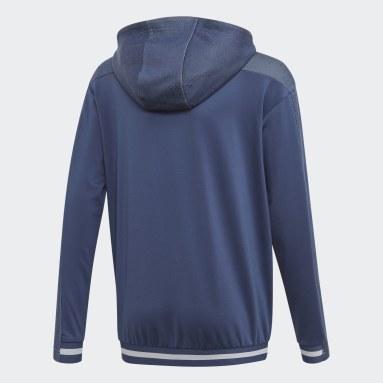 Chaqueta con capucha Messi Azul Niño Gimnasio Y Entrenamiento