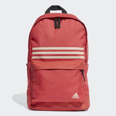 Mochila Classic 3-Stripes Pocket (UNISEX) Rojo Training