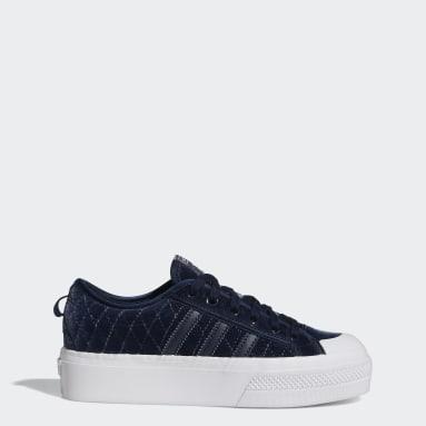 Women Originals Blue Nizza Platform Shoes