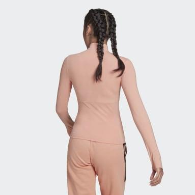 Camiseta Zíper 3/4 Hyperglam Rosa Mulher essentials