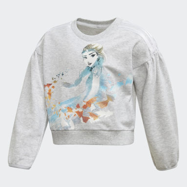Meisjes Fitness En Training Grijs Frozen Sweatshirt