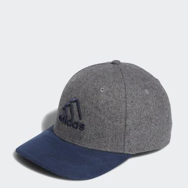 Men Golf Grey 3-Stripes Club Cap