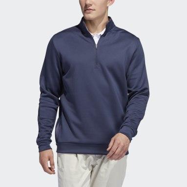 Muži Golf šedá Mikina Adicross Quarter-Zip