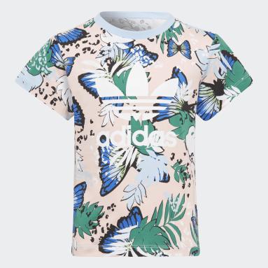 T-shirt HER Studio London Animal Flower Print Rosa Ragazza Originals