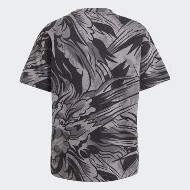 Camiseta ARKD3 Graphic Negro Niño Gimnasio Y Entrenamiento
