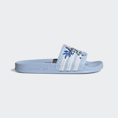 Kinderen Originals blauw adilette Badslippers