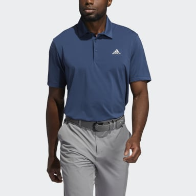 Men Golf Blue Ultimate365 Solid Left Chest Polo Shirt