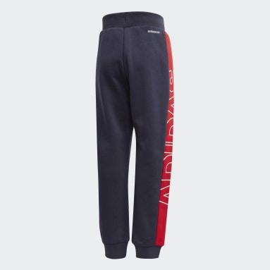 Pantalón Knit Azul Niño Gimnasio Y Entrenamiento