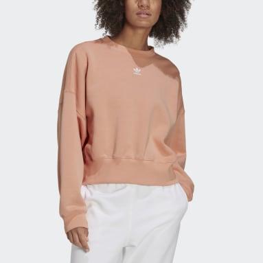 Sudadera Adicolor Essentials Fleece Rosa Mujer Originals
