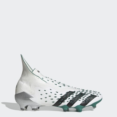Bota de fútbol Predator Freak+ EQT césped natural seco Blanco Fútbol
