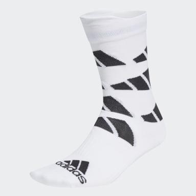 TERREX White Ultralight Allover Graphic Crew Performance Socks