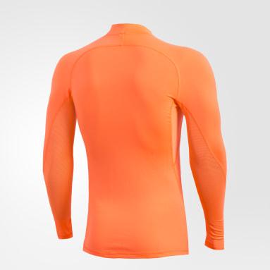 Remera Alphaskin Sport Climawarm Naranja Hombre Fútbol