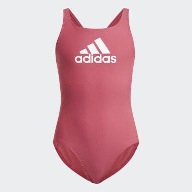 Girls Simning Rosa Badge of Sport Swimsuit