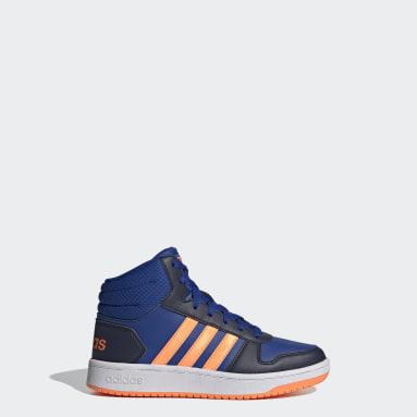 Çocuklar Sport Inspired Mavi Hoops 2.0 Mid Ayakkabı