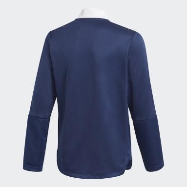 Barn Fotboll Blå Tiro 21 Track Jacket