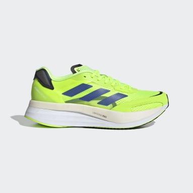 Men's Running Green Adizero Boston 10 Shoes