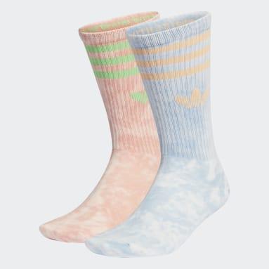 разноцветный Две пары носков Tie-Dyed
