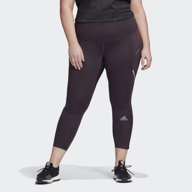 Women Running Purple How We Do Long Tights (Plus Size)