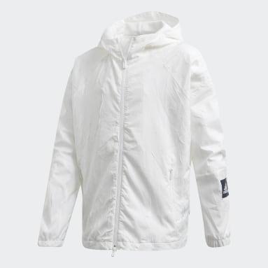 Girls Sportswear Hvid adidas W.N.D. Primeblue jakke