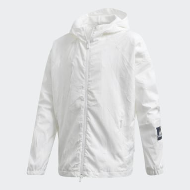 Giacca adidas W.N.D. Primeblue Bianco Ragazza Sportswear