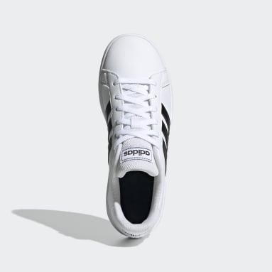 Chaussure Grand Court. Blanc Enfants Sportswear