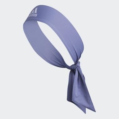 Training Purple Alphaskin Tie Headband