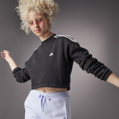 Felpa Hyperglam Crop Crew Nero Donna Sportswear