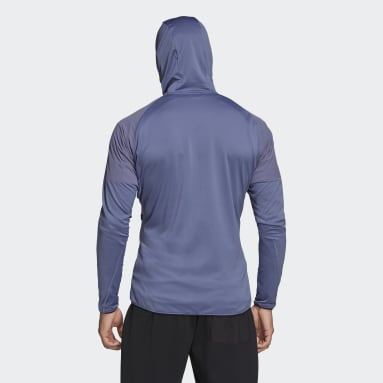 Men TERREX Purple Terrex Skyclimb Fleece Jacket