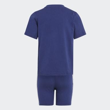 Kinderen Originals blauw Adicolor Short en T-shirt Set