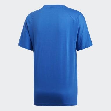 T-shirt adidas Z.N.E. 3-Stripes Blu Uomo Sportswear