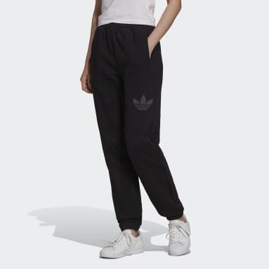 Pantalon de survêtement Cuffed with Trefoil Graphic Noir Femmes Originals