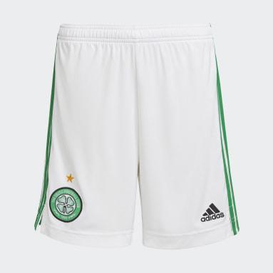 Kids Football White Celtic FC 21/22 Home Shorts
