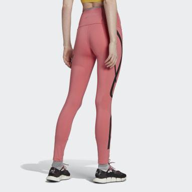 Ženy adidas by Stella McCartney růžová Legíny adidas by Stella McCartney TRUEPACE Long