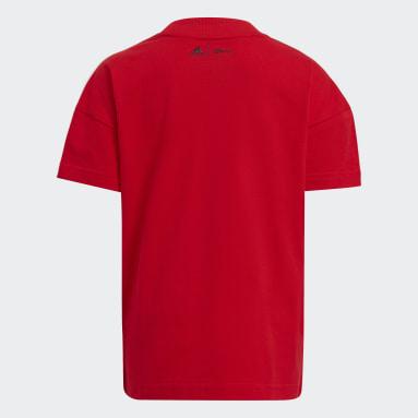 T-shirt Disney Mickey Mouse Rouge Enfants Fitness Et Training