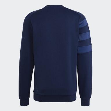 Men Rugby Blue LEIN CREW NECK