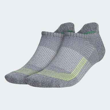 Men's Running Grey Superlite UB21 Tabbed No-Show Socks 2 Pairs
