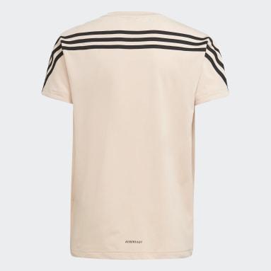 T-shirt Marimekko Primegreen AEROREADY Training Loose 3-Stripes Floral Graphic Rosa Ragazza Fitness & Training