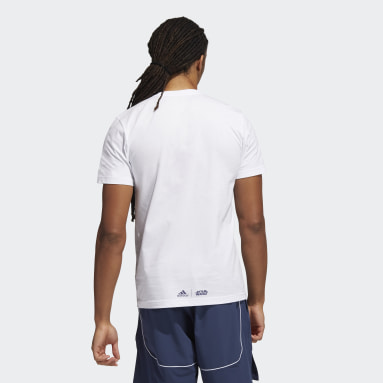 T-shirt Real Madrid Star Wars Home Graphic Blanc Hommes Basketball
